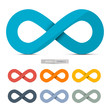 Colorful Paper Vector Infinity Symbols Set