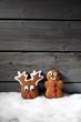 canvas print picture - Lebkuchenfiguren auf Schnee