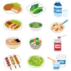 色々な食品 献立
