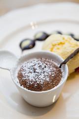 chocolate fondue sweet dessert
