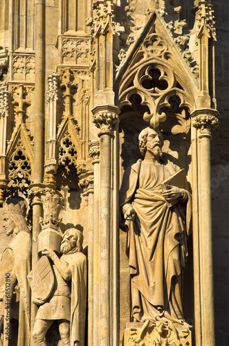 Sculptures from the saint Stephen's catedral, Vienna downtown