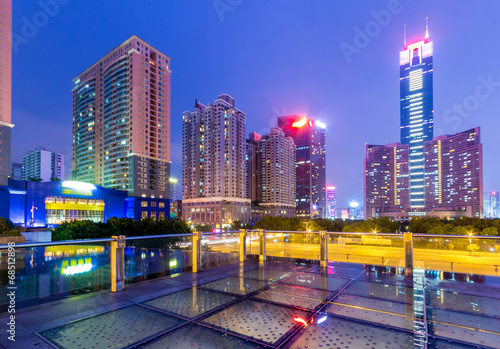 night scene of guangzhou special economic zone,China © zhangyang135769