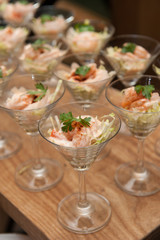 Classic prawn cocktail, catering