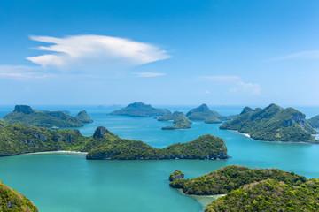 Kleine Inseln in Angthong National Marine Park Thailand