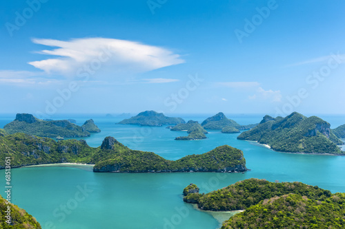canvas print picture Kleine Inseln in Angthong National Marine Park Thailand