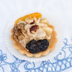 Dessert with nuts and dried fruits