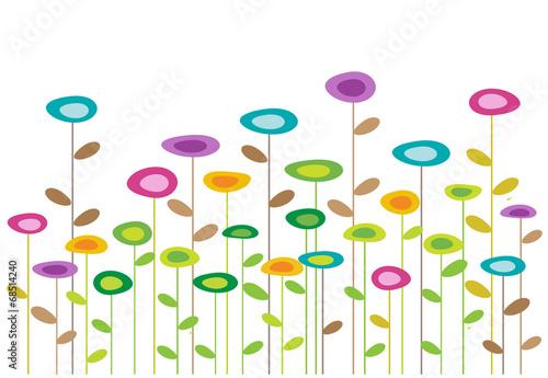 Naklejka color vector flowers background