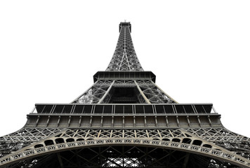 Eiffel Tower on white background