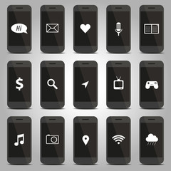 Icon function of mobile phone pattern
