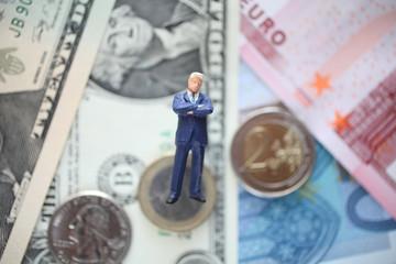 通貨とビジネスマン
