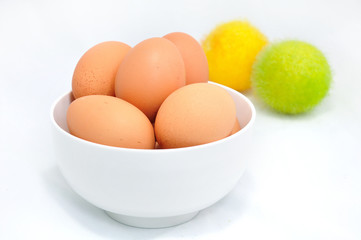 eggs on cup