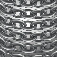стальные цепи на сером фоне