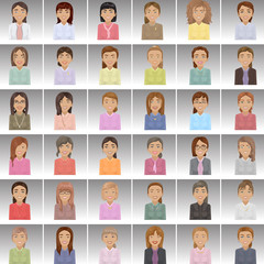 Business Women - Isolated On Gray Background