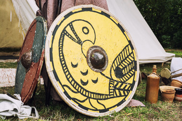 Shields of ancient warriors