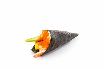 Sushi temaki.