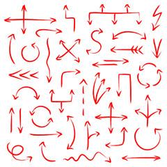 Arrows Scribble Set Red