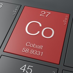 Cobalt element from periodic table