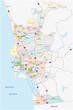 ������, ������: San Diego administrative Karte