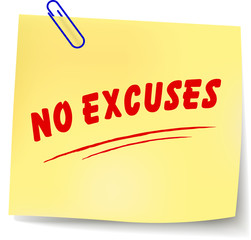 Vector no excuses message