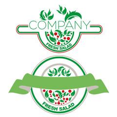 логотип салат и зелень
