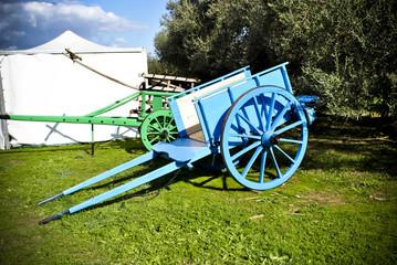 Wooden two-wheel cart