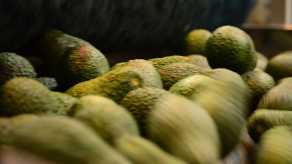 Avocado hass in linepack close up