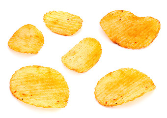 Ribbed potatoes set