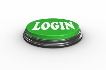 Login on digitally generated green push button