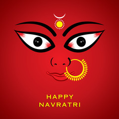 happy navratri festival greeting background vector