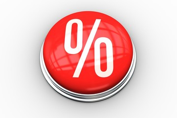 Composite image of percentage graphic on button