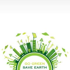creative green eco-friendly city design background vector