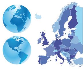 Europa Landkarte