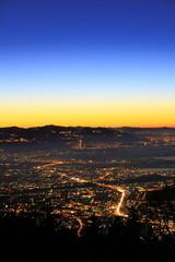Sonnenuntergang über Bregenz