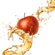 Splash juice with apple isolated on white - 68522619