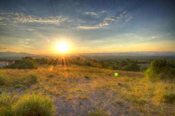 Coucher de soleil sur Grospierres (2)