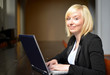 blonde Woman on a Laptop
