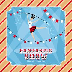 Circus vector card