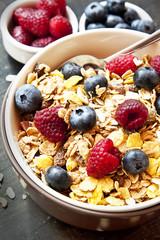 Muesli with Berries for Breakfast