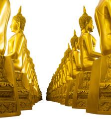 Isolates Buddha studded side turned toward each other