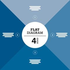 Blue four sided full background flat stripe diagram vector