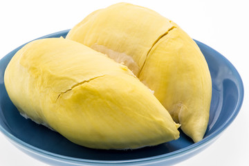 """King of fruits, Durian call """" Monthong """" on plate"""
