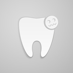 Damaged tooth