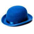 roleta: A stylish blue bowler hat