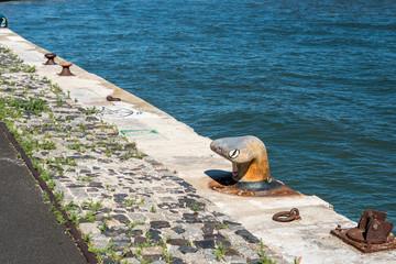Quay on Tagus river, Lisbon (Portugal)