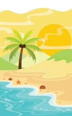Sand Sea and Island