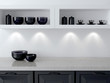 White and black kitchen design. - 68527821