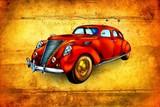 Fototapeta old classic car retro vintage