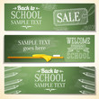 Set of school banners with sample text place for your message.