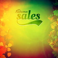 Autumn sale design template.