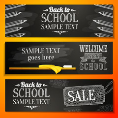 Set of banners with place for your text and sale advertisement,